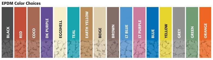 EPDM color choices